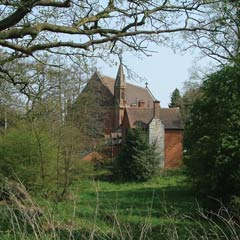 Temple Balsall through the trees